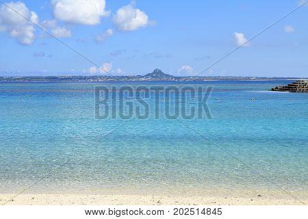 Ie Island in Motobu town Okinawa Japan