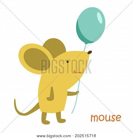 Mouse isolated. Drawing mouse for a child