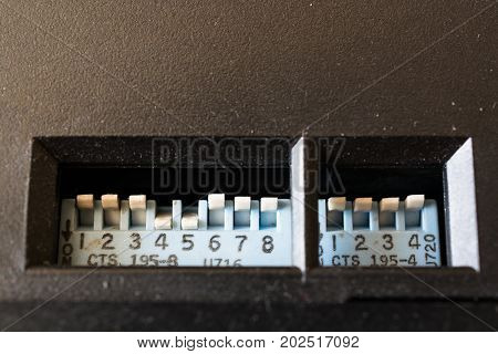 Multi Channel Selector Switch. Built-in at black panel.