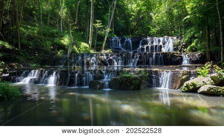 Sam Lan waterfalls Khao Sam Lan National Park Saraburi province Thailand