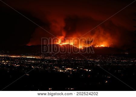 Brush Fire Verdugo Mountains Burbank California 09-02-2017