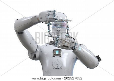Robot Measure With Finger