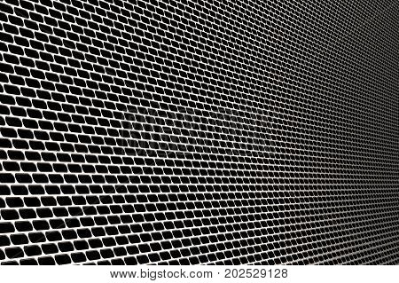3d rendering metal screen background or abstract chrome background