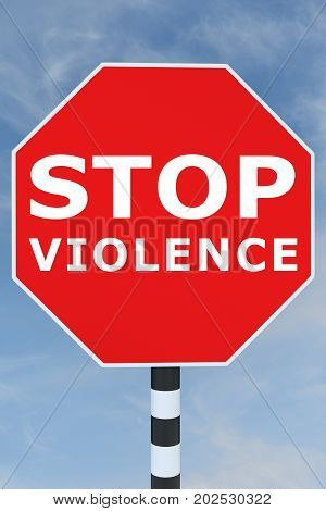Stop Violence Concept