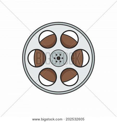 Reel of film. Illustration on white background