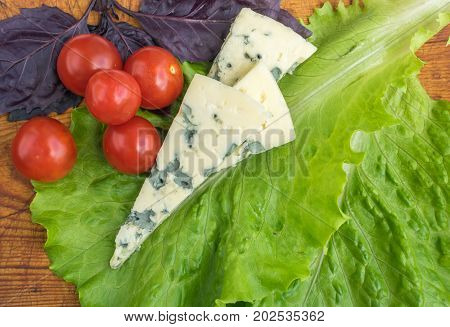 Cheese With Mold With Tomatoes