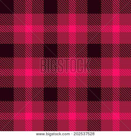 Tartan fabric texture. Seamless pattern. Vector illustration.
