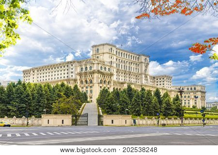The Palace of the Parliament Bucharest Romania.