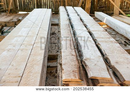 Planks In The Timber Factory