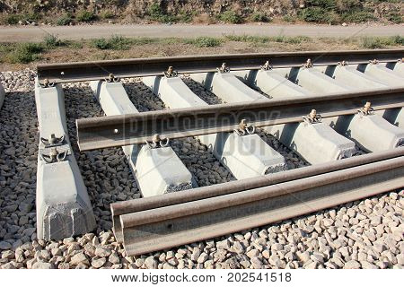 New railway in the north of Israel is under construction