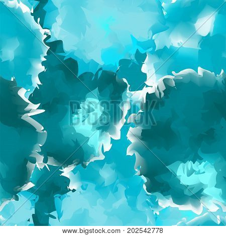 Teal Seamless Watercolor Texture Background. Bewitching Abstract Teal Seamless Watercolor Texture Pa