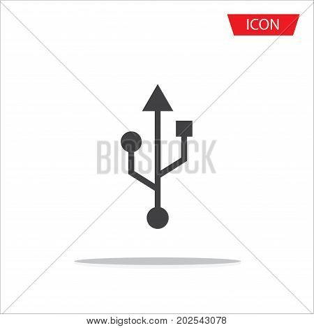 Usb icon vector Usb symbols vector on white background
