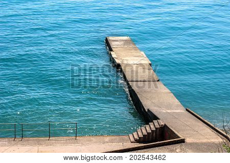pierce, the coast, stairs to the sea