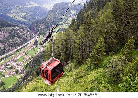 The Cableway To Lake Tremorgio On Canton Ticino