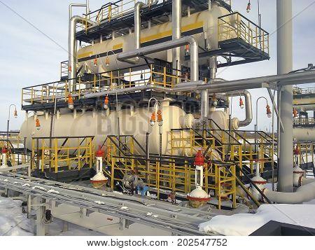 Separator. Equipment For Oil Separation. Modular Oil Treatment Unit. Bulite For Separation.
