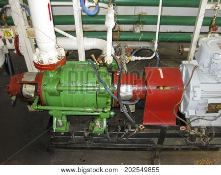 Centrifugal Oil Pump. Pumping Water Treatment Module. Oil Equipment.