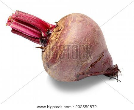 Delicious ripe beet on white background