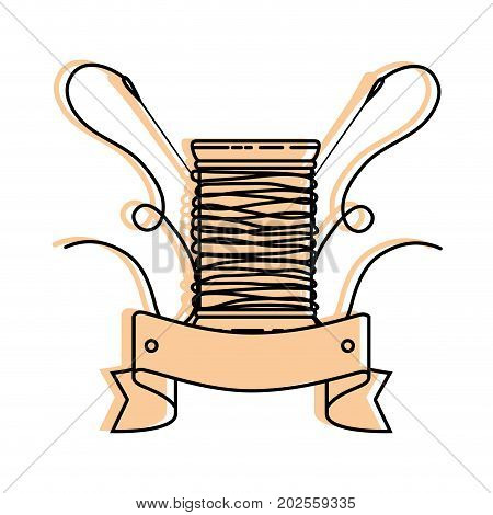 thread spool icon over white background vector illustration