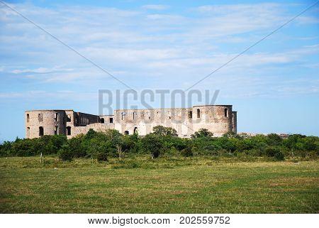 Borgholm castle ruin at the swedish island Oland