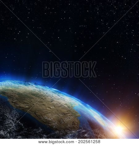 South Africa. Elements of this image furnished by NASA 3d rendering