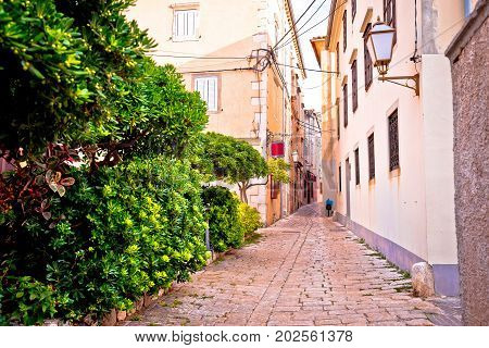 Old Town Of Krk Stone Street View