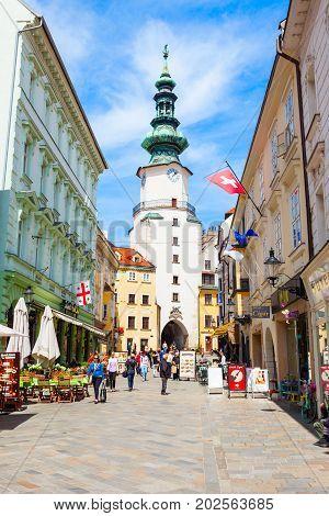 Michaels Gate In Bratislava