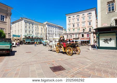 Residenzplatz Square In Salzburg
