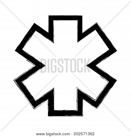figure medicine sign to emergency emblem symbol vector illustration