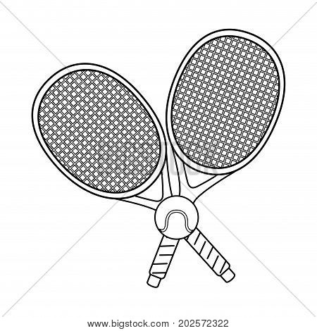 tennis ball and rackets vector illustration design