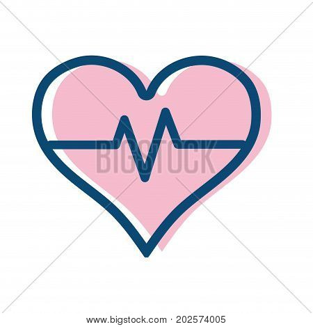 heartbeat vital sign to ekg frequency vector illustration
