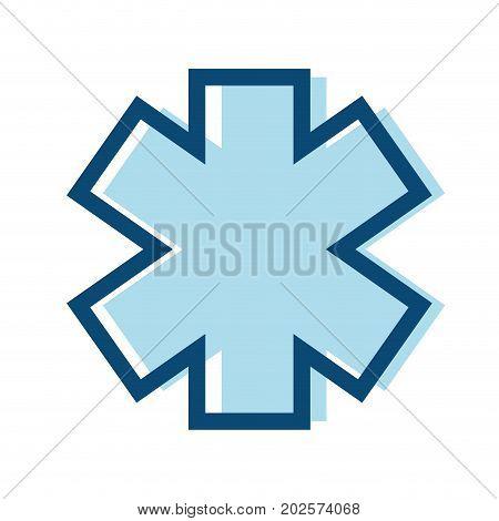 medicine sign to emergency emblem symbol vector illustration