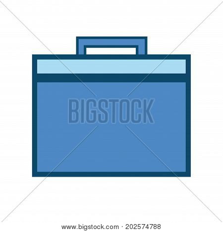 briefcase to save business papers document vector illustration