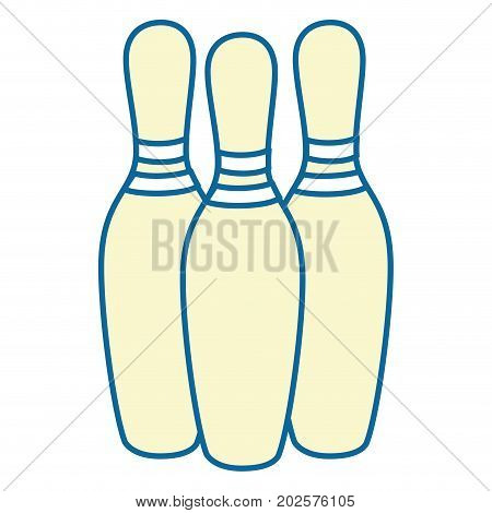 bowling isolated sport icon vector illustration graphic design