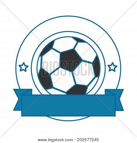 football ball emblem icon vector illustration graphic design