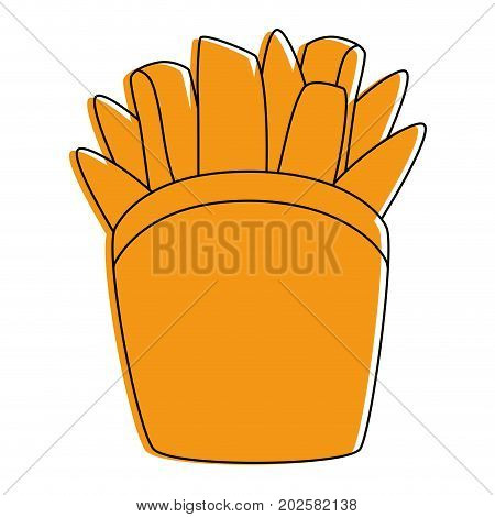 french fries fast food vector icon vector illustration graphic design