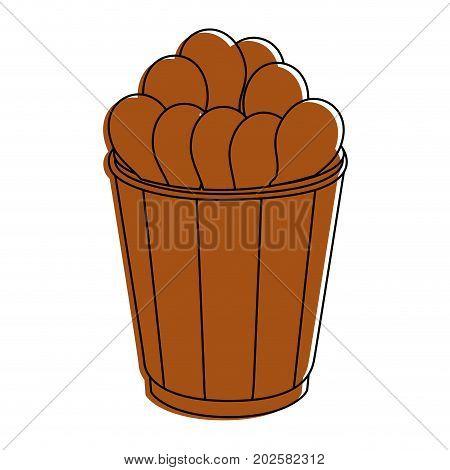 chicken drumsticks food vector icon vector illustration graphic design