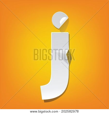 J Lowercase Letter Fold English Alphabet New Design