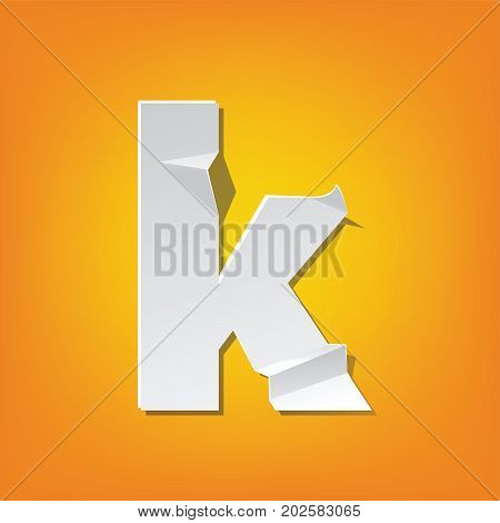 K Lowercase Letter Fold English Alphabet New Design