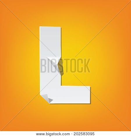 L Capital Letter Fold English Alphabet New Design