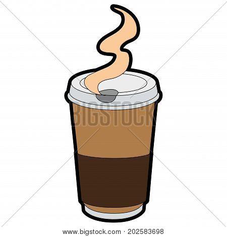 Coffee to go icon vector illustration graphic design