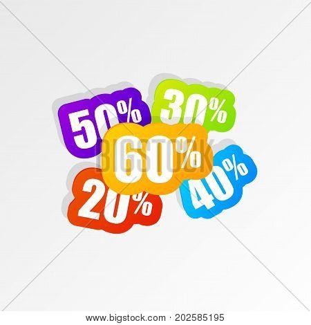 Discount price tags. Sale banner. Modern design. Vector illustration