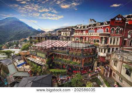 Jiufen, Taipei, Taiwan. The Meaning Of The Chinese Text In The Picture Is The Red Globe Of Jiufen