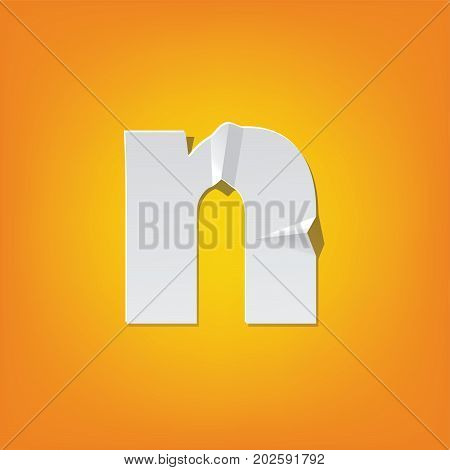 N Lowercase Letter Fold English Alphabet New Design
