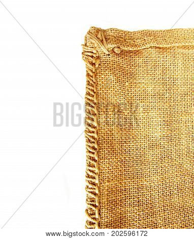 hessian texture isolated on white background, burlap