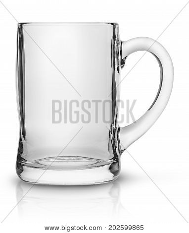 Glass mug for beer isolated on white background
