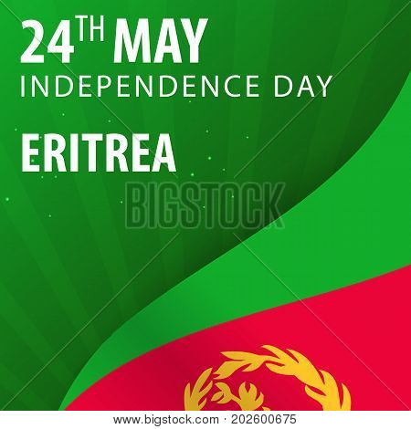 Independence Day Of Eritrea. Flag And Patriotic Banner.