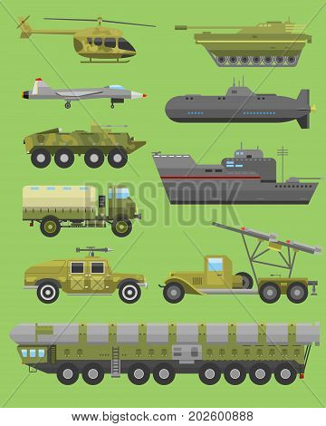 Military technic army, war tanks and military industry technic armor tanks collection. Military technic and armor tanks, helicopter, hurricane, missile system submarine, armored personnel carriers