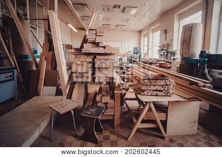 View Of The Production Hall Of Carpentry