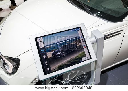 Tablet Car Information Motor Show