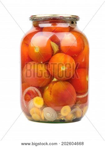 Canned Tomatoes In Jar